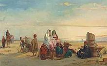 JAN BAPTIST HUYSMANS (BELGIAN, 1826-1906) Resting in the desert s