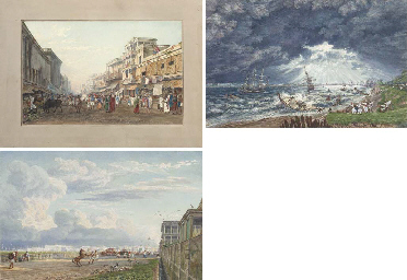 FRASER, James Baillie (1783-1856). Twenty-four highly finished watercolours of views in Calcutta. With scratching-out and bodycolour. [Calcutta: 1819-20]