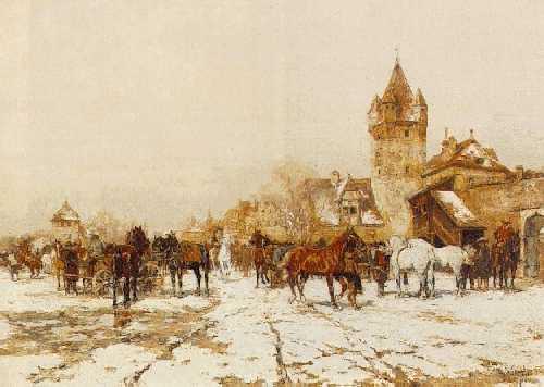 WILHELM VELTEN (RUSSIAN, 1847-1929) The Horse Market