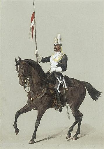 Review Orders: A trooper of the 17 t h Lancers (illustrated); An officer of the 5 t h Lancers; An officer of the 17 t h Lancers; An officer of the 21 s t Hussars; and A trooper of the 5 t h Lancers