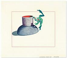 Ken Price (1935-2012) - Acrobatic Frog Cup