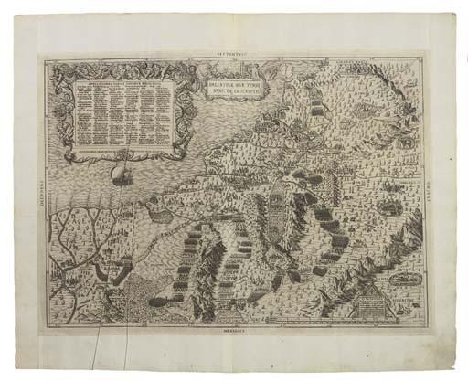 <B>HOLY LAND & PALESTINE - SALAMANCA, ANTONIO (<I>c.</I>1500-1562).</B> <I>Tabula Moderna Terrae