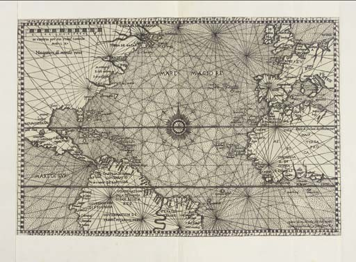 <B>THE ATLANTIC - CAMOCIO, GIOVANNI FRANCESCO (<I>fl.</I>1558-c.1575).</B> <I>Navigationi dil