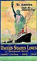 UNITED STATES LINE, 'LEVIATHAN', E Albert Cox, Click for value
