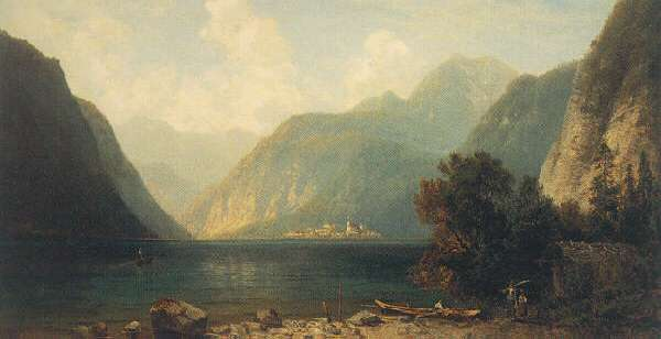 JOSEF SCHOYERER (GERMAN, 1844-1923) A MOUNTAIN LAKE