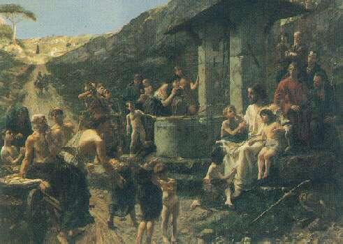 FRANCK KIRCHBACH (GERMAN, 1859-1912) CHRIST AND THE CHILDREN
