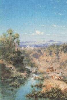 PAUL PASCAL (FRENCH, 1832-1903) BORDS DU NIL A ASSOWANN, EGYPT, EFFET DU MATIN; AND PAYSAGE AU VIEUX