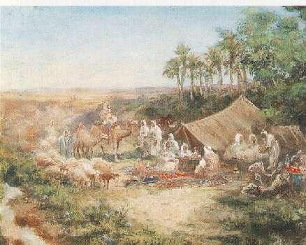 PAUL PASCAL (FRENCH, 1832-1903) ARAB ENCAMPMENT