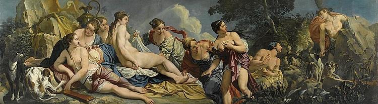 Diana e le ninfe sorprese da Atteone