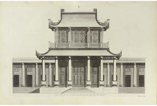 CHAMBERS, Sir William (1726-1796). Desseins des Edifices, Meubles, Habits, Machines, et