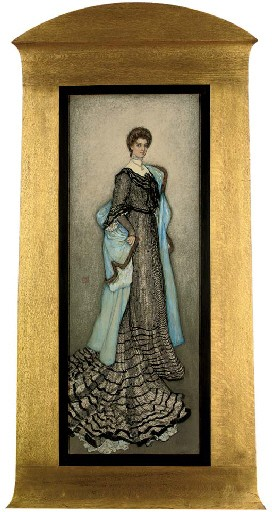 Portrait of an elegant lady, full-length