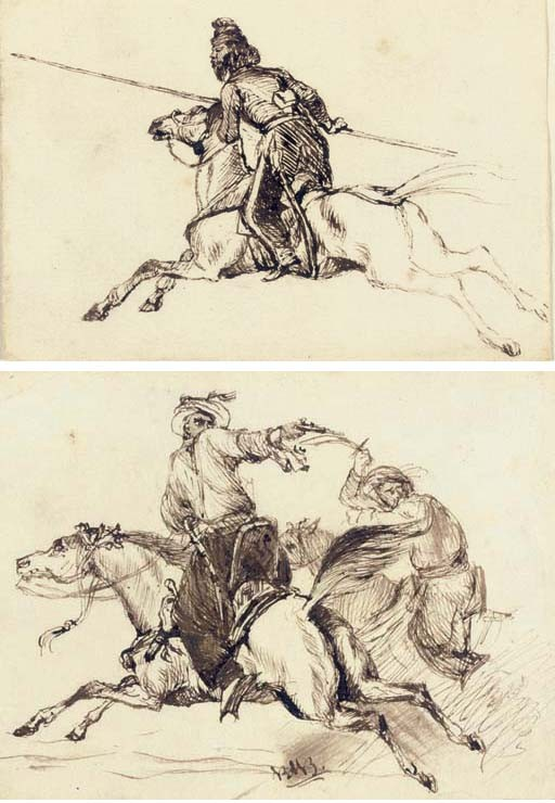 Studies of Arab horsemen