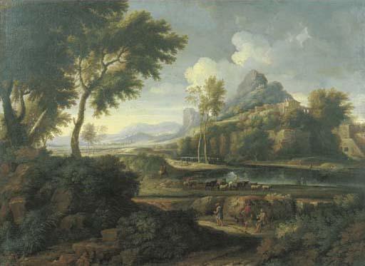 Attribuito a Jan Frans van Bloemen, l'Orizzonte (Anversa 1662-1749 Roma) e Pieter van Bloemen