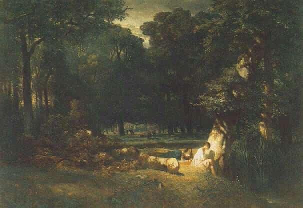 CONSTANT TROYON (FRENCH, 1810-1865) Clairiere dans la Foret