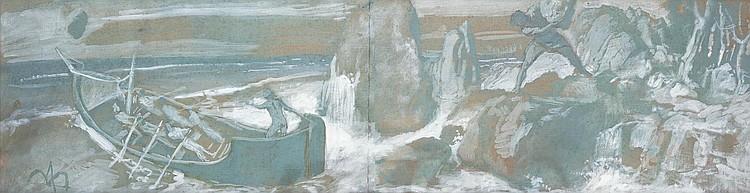 ARNOLD BOCKLIN (BALE 1827-1901 SAN DOMENICO)