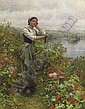 A Pensive Moment, Daniel Ridgway Knight, Click for value
