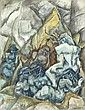 Figures in a Landscape, Max Weber, Click for value