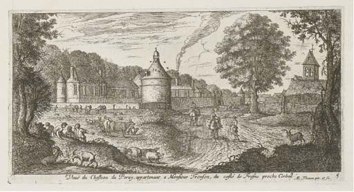 CLAUDE CHASTILLON (1559-1616), ALBERT FLAMEN (1620-1664) ET ADAM PERELLE (1638-1695)