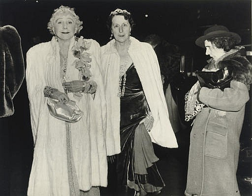 The Critic (Mrs. Leonora Warner & her mother, Mrs. George Washington Cavanaugh attending opening night at the Metropolitan Opera), 1943