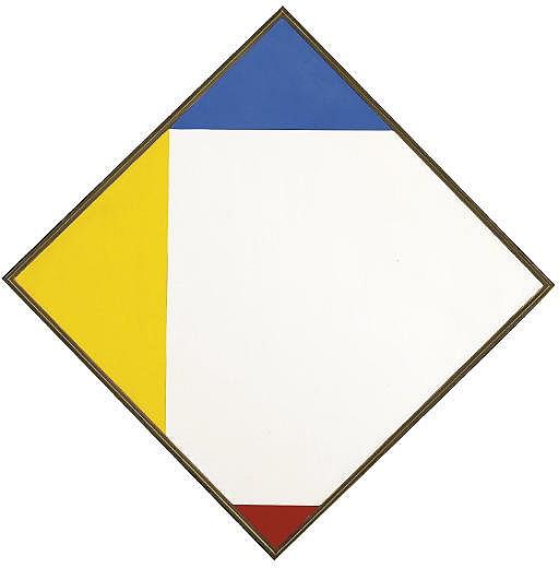 Weisses Quadrat durch Elementärfarben ergänzt, 1962