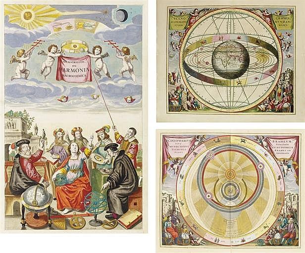 CELLARIUS, Andreas (ca 1596-1665).  Harmonia macrocosmica sev atlas universalis et novus, totius universi creati cosmographiam generalem, et novam exhibens.  Amsterdam: Johannes Janssonius, 1660.