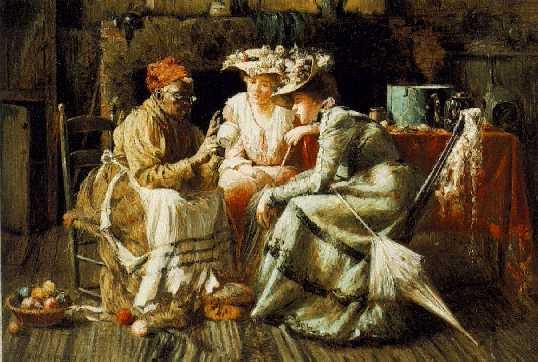 HARRY HERMAN ROSELAND (1868-1950)Reading the Tea Leavessigned Harry