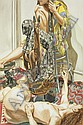 Two Models and Yoruba Mask, Philip Pearlstein, Click for value