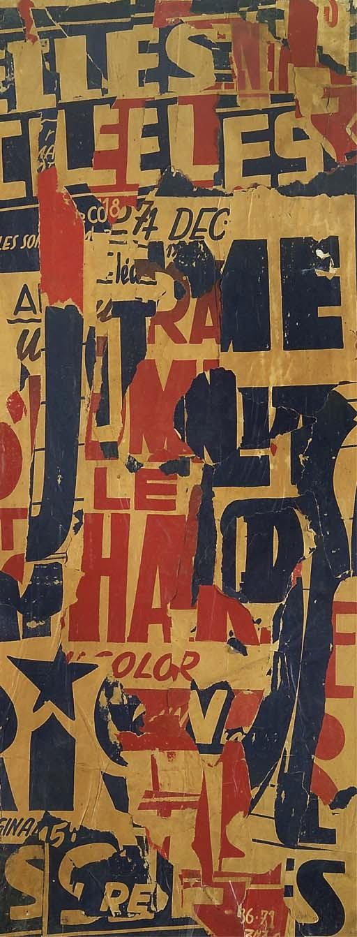 VILLEGLE (JACQUES MAHE DE LA VILLEGLE DIT) (NE EN 1926)
