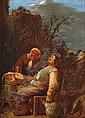 Peasants drinking outside an inn, Joos van Craesbeeck, Click for value
