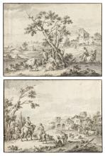 Giuseppe Zais (Forno di Canale 1709-1781 Treviso) - Two pastoral scenes with figures