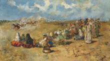 SALVADOR SÁNCHEZ BARBUDO (SPANISH, 1857-1919) - Fantasy in the desert