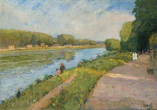 Sur la rive du fleuve, le dimanche