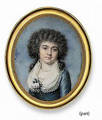 TWO PORTRAIT MINIATURES: ONE BY LOUIS-AMI ARLAUD-JURINE (SWISS, 1751-1829), THE OTHER ATTRIBUTED TO JEAN JACQUES THÉRÉSA DE LUSSE (FRENCH, 1757-1833)