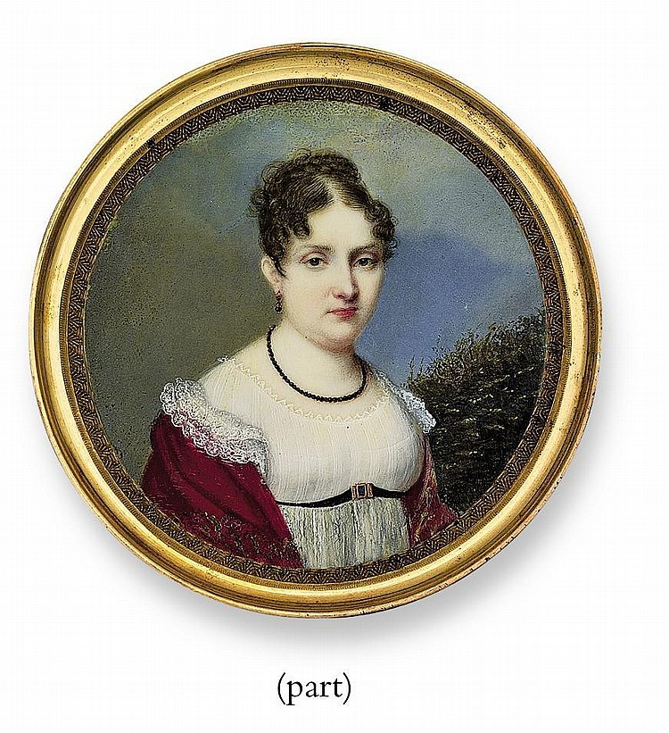 THREE PORTRAIT MINIATURES: TWO FRENCH, THE OTHER ITALIAN, BY CARLO VINCENZO VACCA (ITALIAN, 1789-1848)