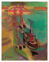 Françoise Gilot (Neuilly-sur-Seine - Née en 1921) - Tug Boat at Tower Bridge