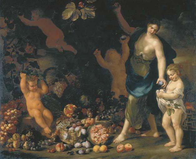 Nicola Vaccaro (Napoli 1640-1709) e Abraham Brueghel (Anversa 1631-1697 Napoli)