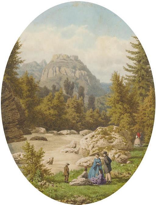 Le Couvent des Bains de St. Gervais, Haute Savoie; and Environs de Mont Dore, Auvergne (one illustrated)