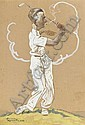 The golfer, Harry Rountree, Click for value