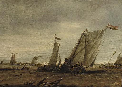 Fishing boats in choppy waters