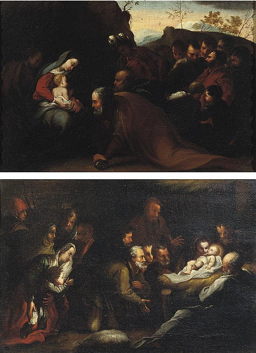 The Adoration of the Shepherds; and The Adoration of the Magi