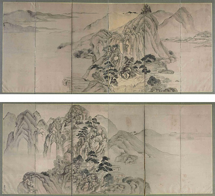 Attributed to Ike Taiga (1723-1776)