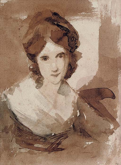 Portrait of Miss Shuttleworth, bust-length