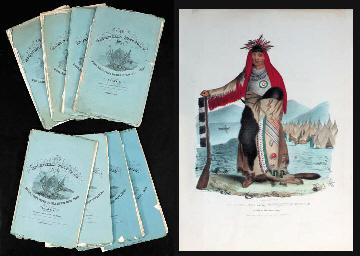 LEWIS, James Otto (1799-1858). [Wrapper title:] Aboriginal Port Folio. Philadelphia: May-December, 1835.