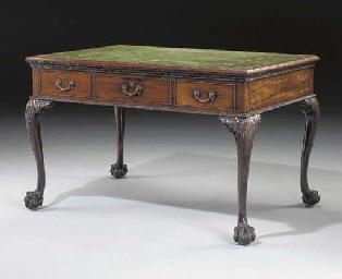 A GEORGE II MAHOGANY WRITING-TABLE