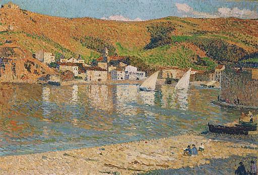 Les collines dominant le port de Collioure