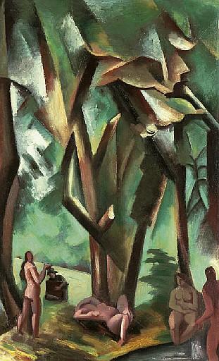Les baigneuses dans la forêt