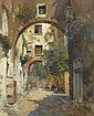 A Shady Street in Naples, Carlo Brancaccio, Click for value