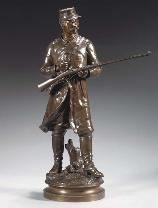 Cast from a model by Charles Anfrie (French, 1833-?), late 19th Century