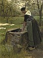 Fetching water from the well, Willem Martens, Click for value