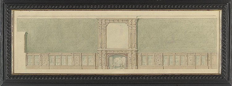 Design for a library bookcase